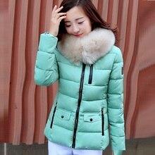 Новый 2015 зимняя куртка модницы хан издание женский небольшой пункт густой зимние-мягкие одежды пуховик пальто