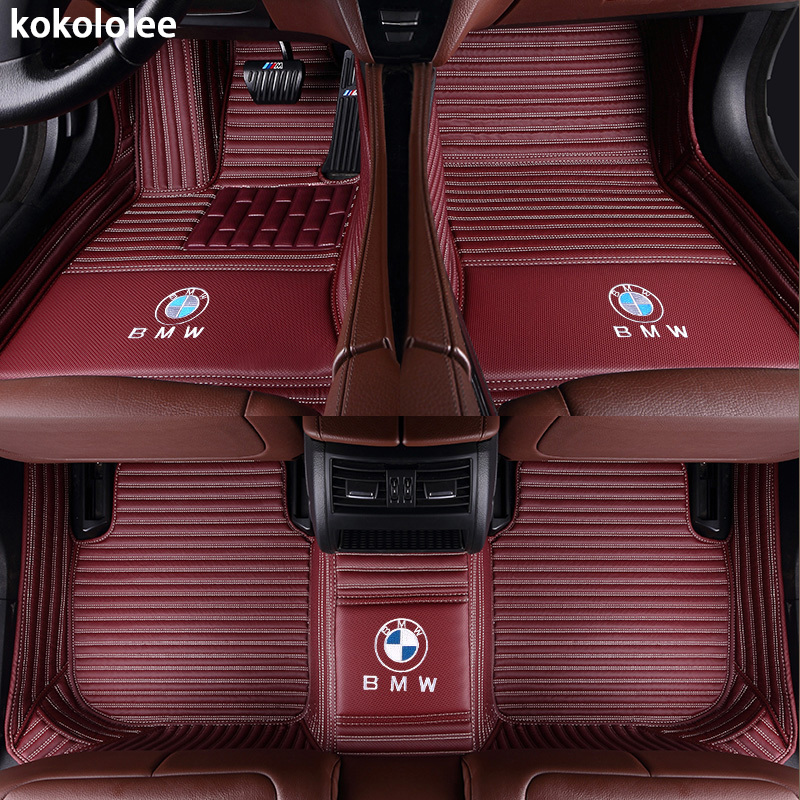Kokololee Personnalisé plancher de la voiture tapis pour BMW e30 e34 e36 e39 e46 e60 e90 f10 f30 x1 x3 x4 x5 x6 1/2/3/4/5/6/7 accessoires car styling - 3