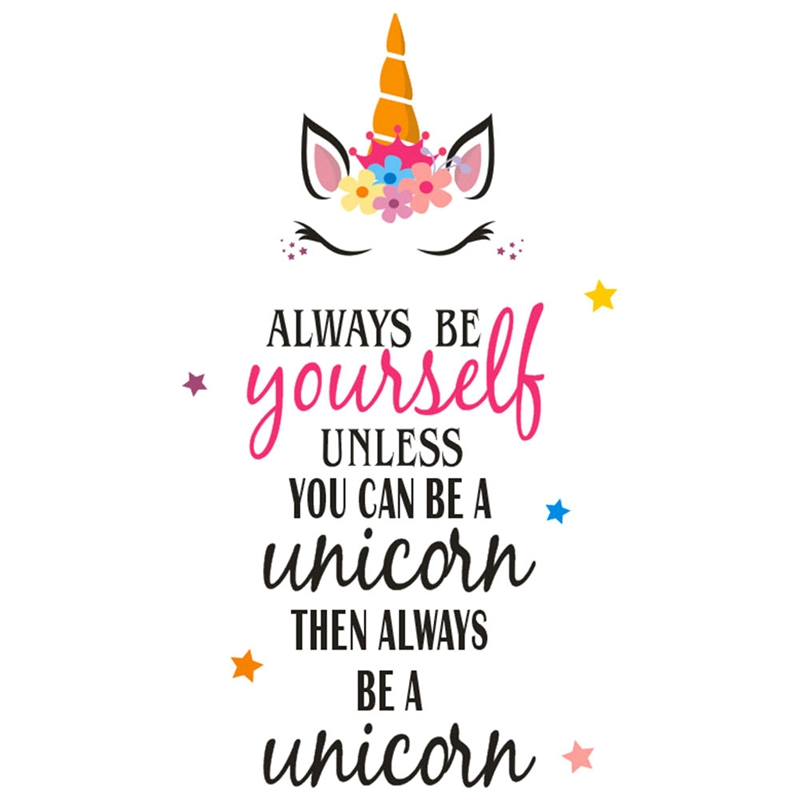 Always Be a Unicorn Quote Wall Sticker Vinyl Animal Wall