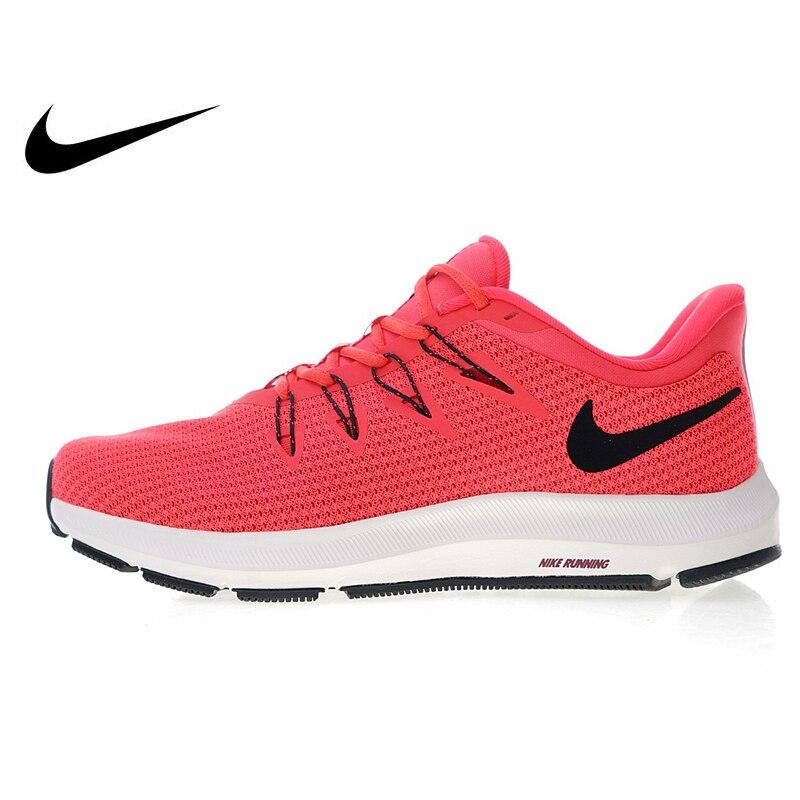 Original authentique marque Nike Quest chaussures de course pour femmes rouge chaussures de sport de plein air haute qualité respirant léger AA7412