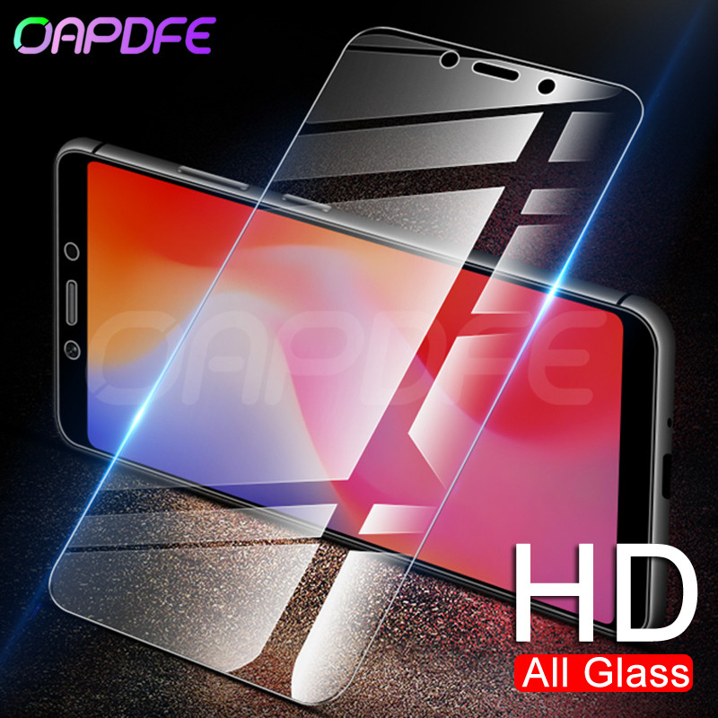 OAPDFE 9H Tempered Glass For For Xiaomi Redmi 6A S2 6 Pro 5 Plus 5A 4X 4A Note 4 4X 5 5A Pro Screen Protector Protective Film