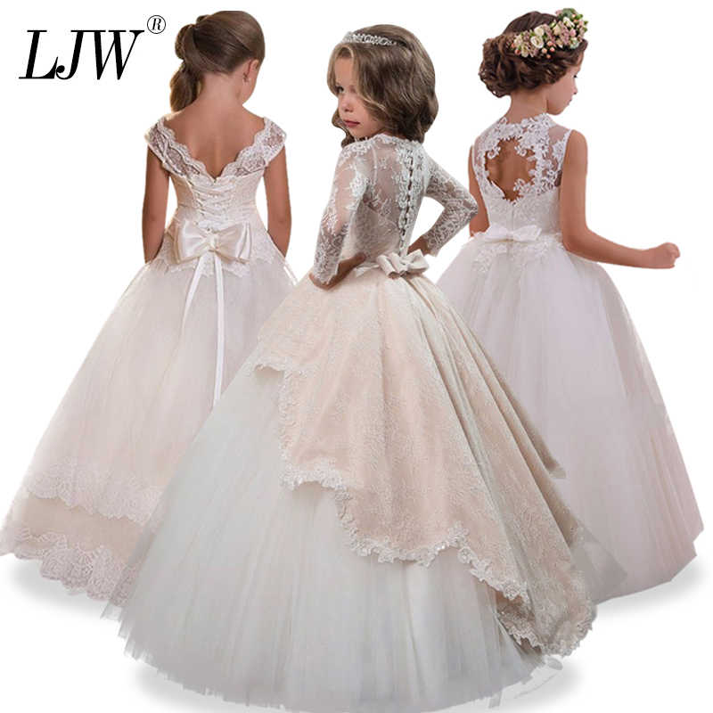 87cf8b91b7724 Detail Feedback Questions about Girl Children Wedding Dress white ...