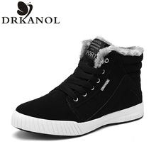 New Arrivals High Quality Genuine Leather Men Snow Boots Fashion Winter Warm Ankle Boots Men Flat Casual Shoes zapatos hombre