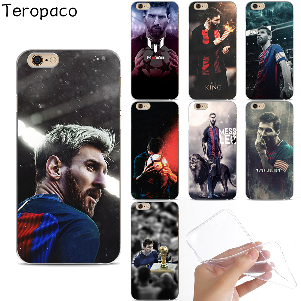 The King Lionel Messi Soccer Football Star Soft Silicone Phone Case Cover Capa For Apple iphone X 7 8Plus 6S 6Plus 5S SE 4S 5C