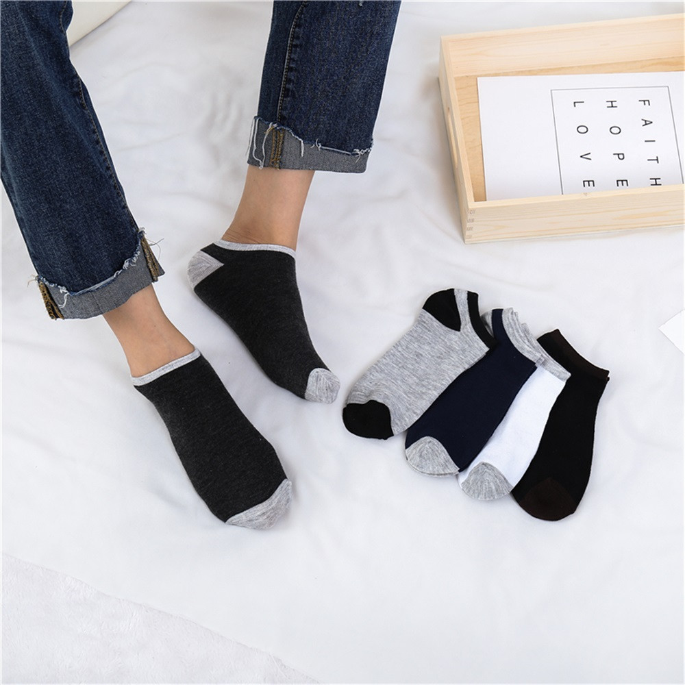 Womail Man Short stockings 1Pairs Comfortable Stripe Cotton   Sock   Slippers Short Ankle   Socks   Gifts fashion Solid dropship j15
