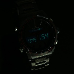 Image 5 - ساعات يد للرجال من NAVIFORCE ساعة كوارتز من الفولاذ بالكامل ساعة تناظرية LED رقمية ساعة يد رياضية عسكرية ساعة رجالية