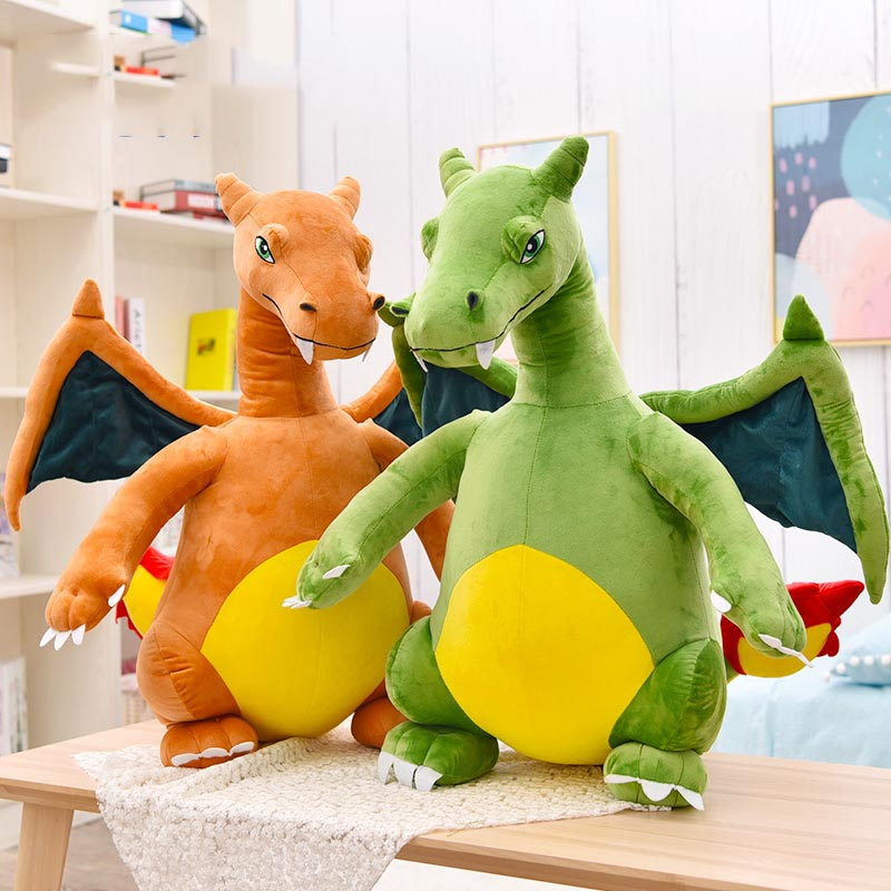 Mon Lapinou 80cm dinosaur big plush toy anime figure stuffed charizard large soft doll simulation fire-breathing dragon kids toy dinosaur toy stuffed soft dinosaurus speelgoed action figure animal dinosaurio doll learning