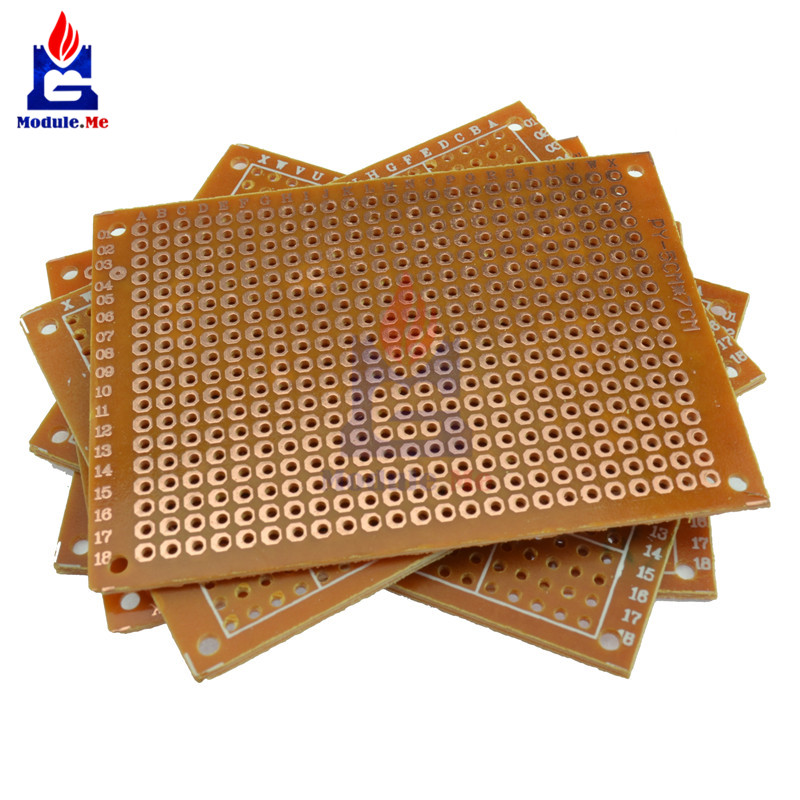 10PCS Universal PCB Board 5x7 5 x 7 cm 2.54mm DIY Prototype Paper Printed Circuit Panel 5x7cm 50x70mm Single Sided Board prototype universal printed circuit board breadboards 5 pack