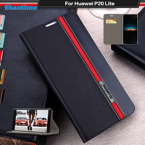 PU Leather Case For Huawei P20 Lite Flip Case For Huawei P30 Lite Business Case For Huawei Nova 4 Lite Soft Silicone Back Cover(China)