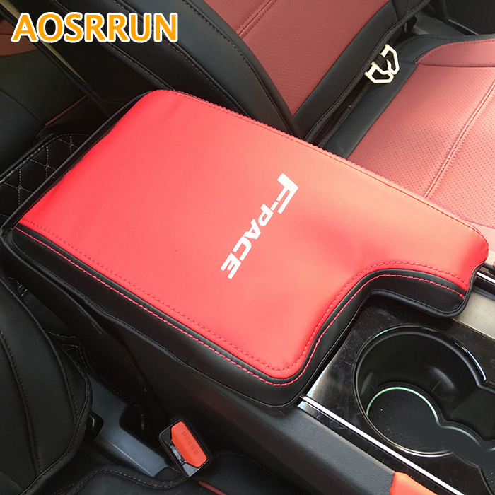 Car accessories Leather Car armrest box Rear air conditioning Cover Car-styling For Jaguar F-Pace X761 for jaguar f pace f pace x761 car styling abs chrome front fog lamp frame cover trim accessories set of 4pcs