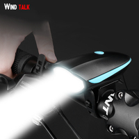 Wind Talk USB Rechargeable Bike Light Headlight Lamp Led MTB Bycicle Light 140 Db Horn Bike