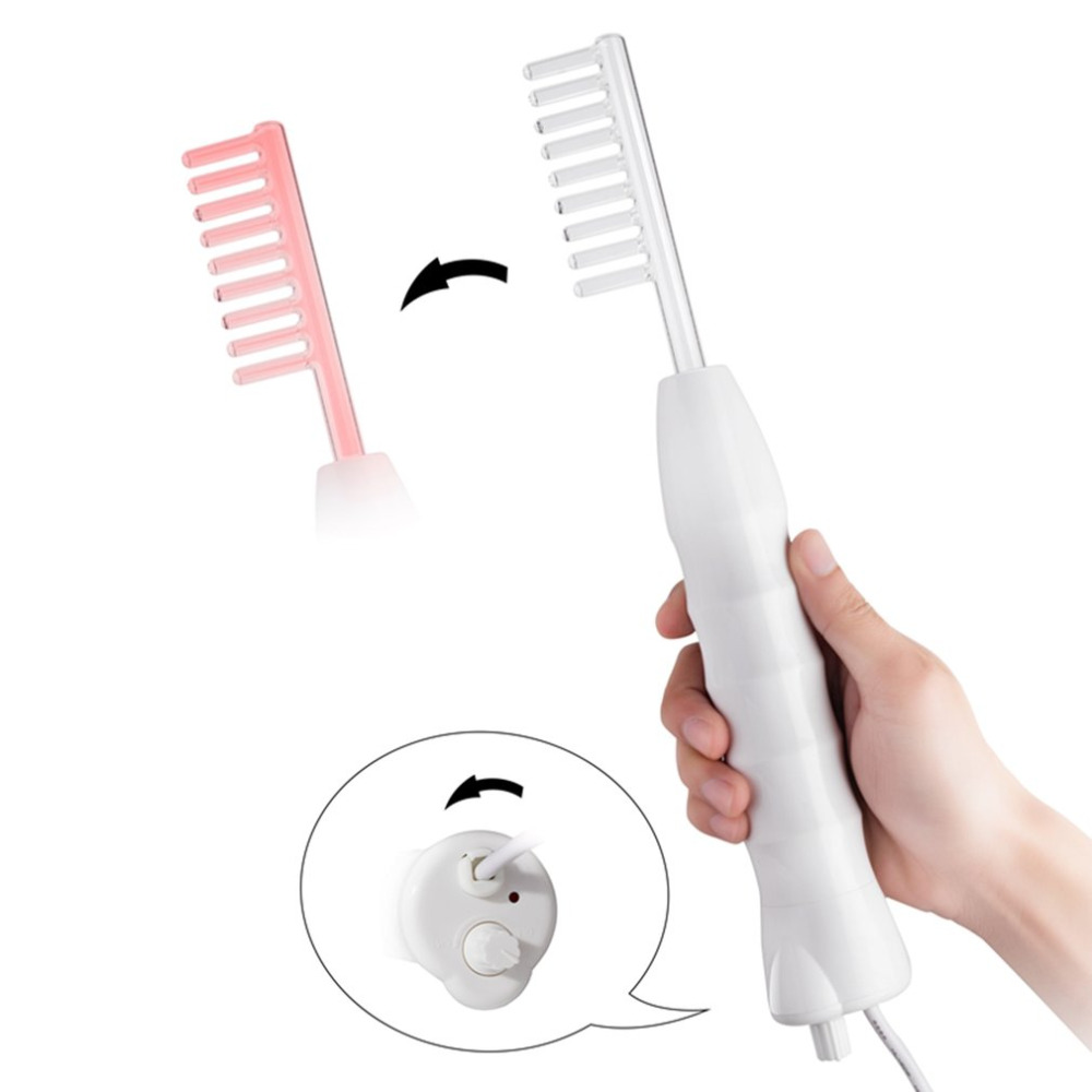 2019 NEW Portable High Frequency Straight Hair Comb D'arsonval Skin Tightening Acne Spot Remover Device