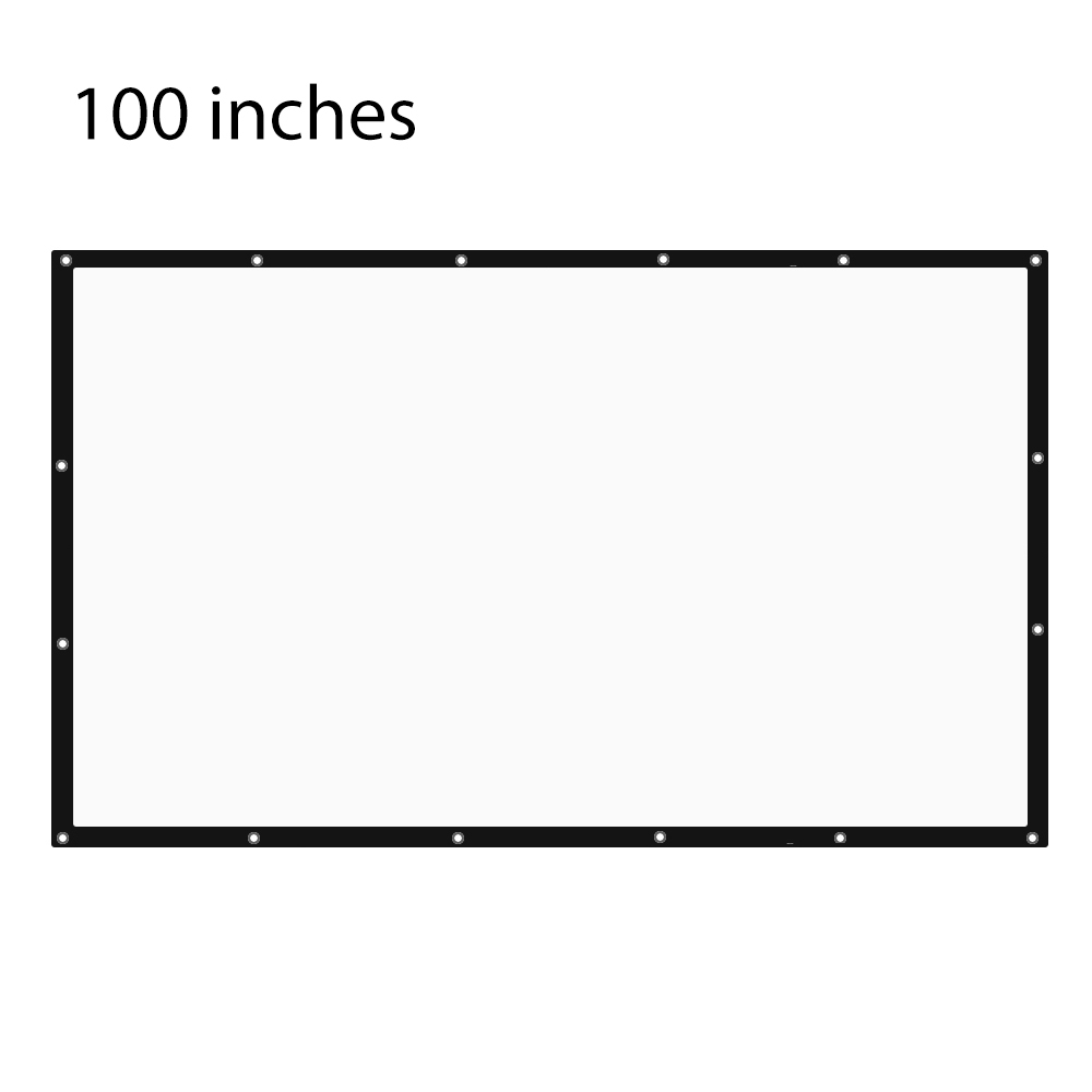 100 Inch 16:9 Portable Tabletop Projector Screen For UC46 AM01S X7 Home Theater  Business Meetings Projector & 72 84 120 Inch