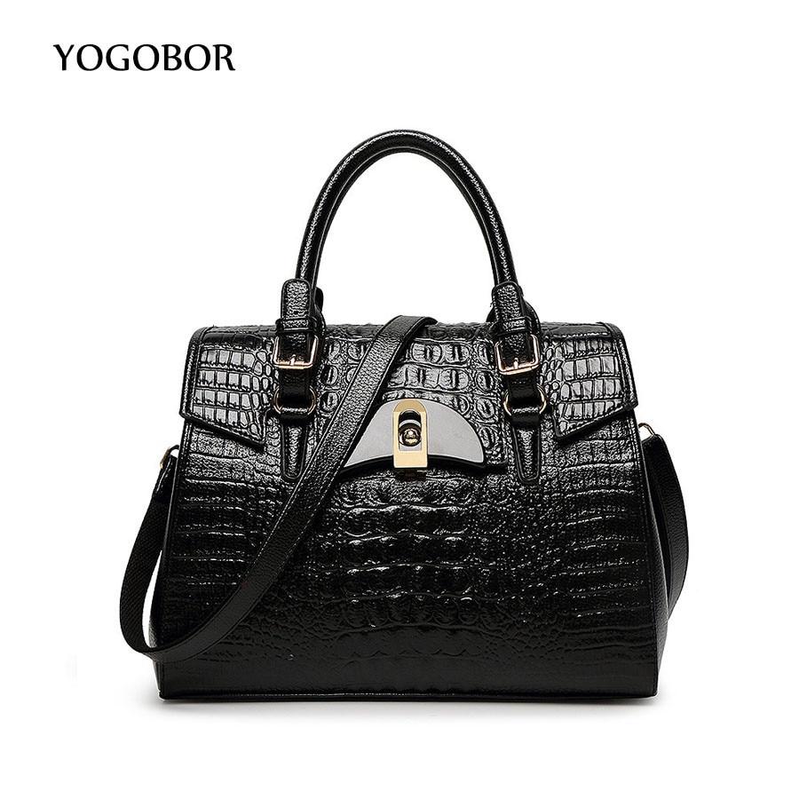 ФОТО YOGOBOR Women bag PU leather bags handbags women famous brands luxury 2017 shoulder messenger bag dollar price top-handle bags