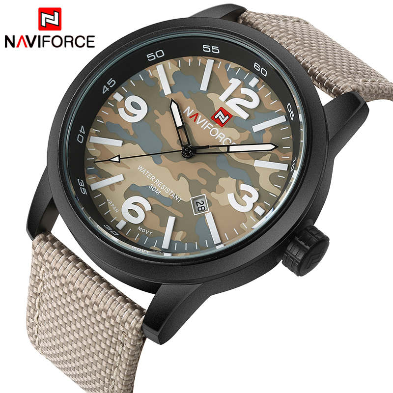 2017 New NAVIFORCE Men Quartz Sports Military Watches Men's Luxury Brand Fashion Casual Wrist Watch Relogio Masculino Male Clock 2017 new luxury brand naviforce watches men leather quartz digital watch man fashion military casual sports wrist watch relogio
