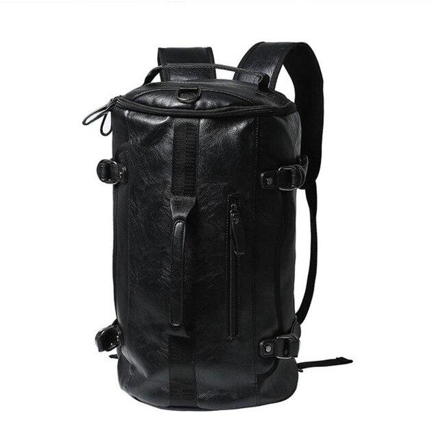 Aliexpress Com Buy Brand Backpack Men 14 Laptop Leather School