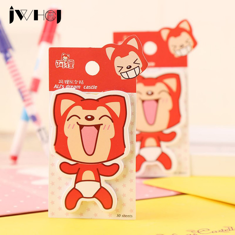 2 pcs X 30 sheets fox (style A)memo pad paper sticky notes post notepad kawaii stationery papeleria school supplies