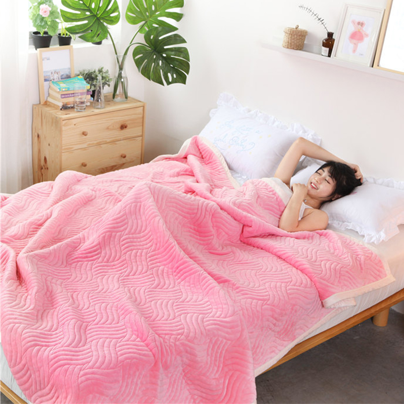 Home Textile 21 Light Luxury Pink Blanket Elegant Comfortable Throws Coral Fleece Bedspread For Sofa/bed/home 1pcs Blanket 3 Size 45 An Indispensable Sovereign Remedy For Home Blankets
