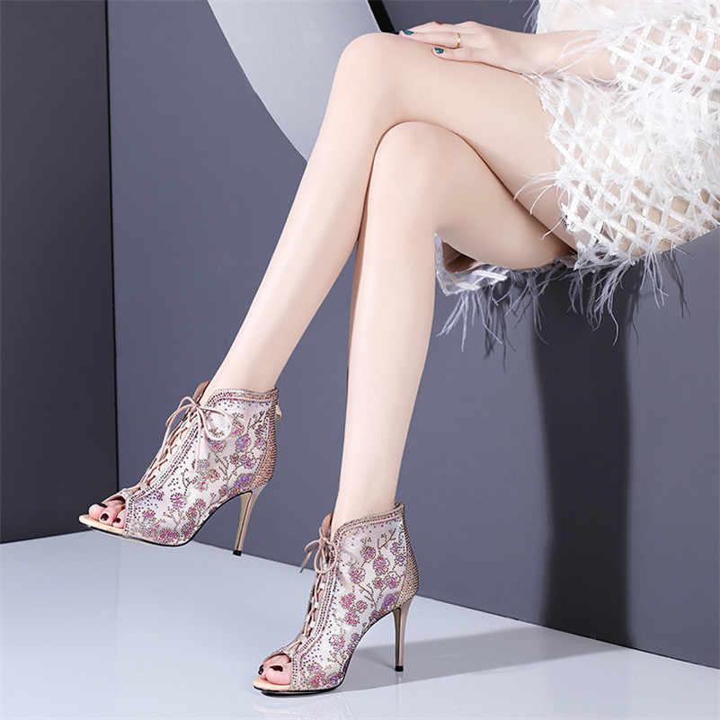 FEDONAS 2019 คลาสสิกใหม่ Elegant ผู้หญิงข้อเท้ารองเท้า Peep Toe รองเท้าส้นสูงแฟชั่นฤดูร้อนเซ็กซี่ผู้หญิงงานแต่งงานรองเท้าผู้หญิง