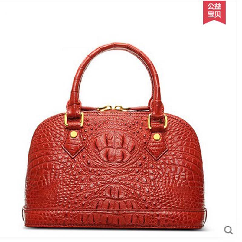2018 hlt new crocodile Female bag Handbag genuine leather banquet bag of European and American fashion 2018 hlt new crocodile leather handbag female dermal fashion fashion bag bag shoulder bag for european and american parties