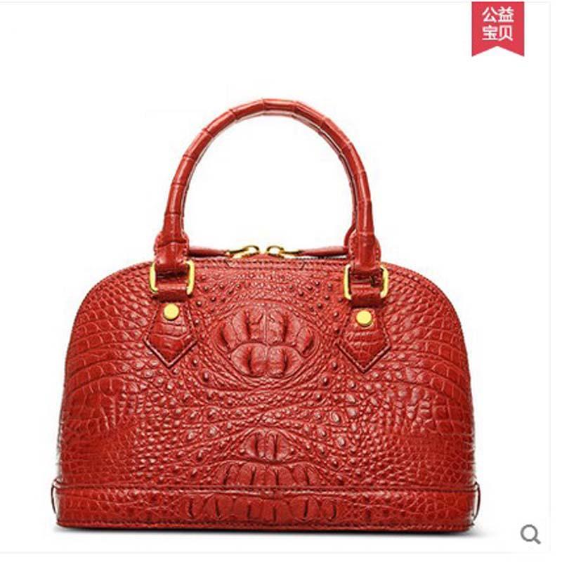 2018 hlt new crocodile Female bag Handbag genuine leather banquet bag of European and American fashion dadi1 dadi hlt 102