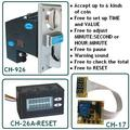 [CH] CH926 coin operated time control device for cafe kiosk, multi coin selector with timer board and reset counter