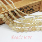 wholesale Natural Stone Smooth Citrines Quartz Loose Beads For Jewelry Making Diy 15.5