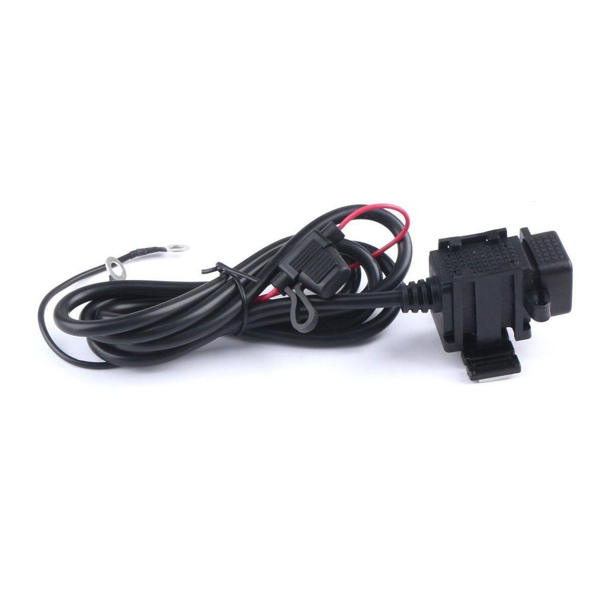Étanche Double USB Chargeur Moto Cellulaire-Téléphone Port de Charge 12 V à 5 V/2.1A Puissance Adaptateur