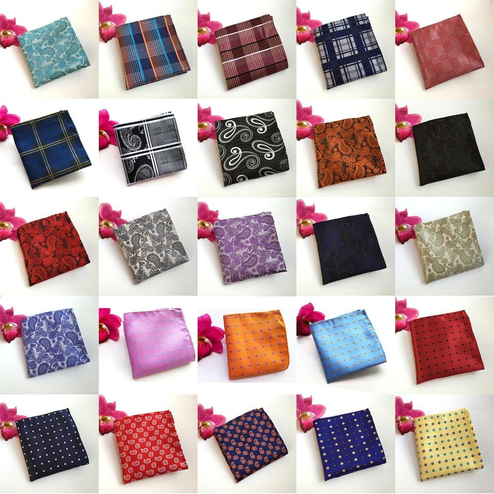 Colorful Men font b Tartan b font Plaid Flowers Paisley Leopard Cotton Pocket Square HZTIE0027