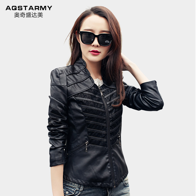 2a43dd29b leather bomber jacket women punk suede coat plus size Diagonal ...