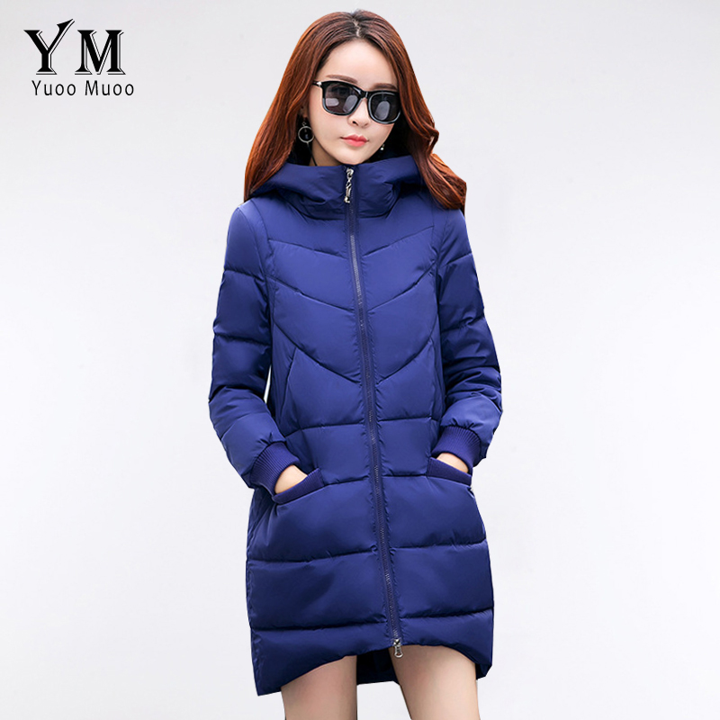 YuooMuoo New High Quality Fashion A line Women Coat Winter Warm Wadded  Jacket Elegnat Windproof Parka Female Jacket Hot Sale-in Parkas from Women s  Clothing ... 2bbe602d363e