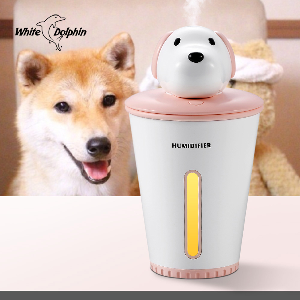 все цены на White Dolphin Mini USB Air Humidifier Essential Oil Diffuser Mist Maker Fogger Air Purifier 300ML LED Car USB Aroma Diffuser онлайн