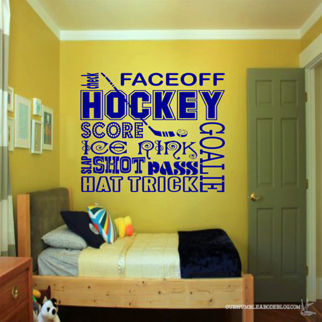 Hockey Collage Wall Decal Sports Wall Art, hockey , kids room decor ...