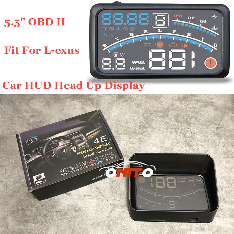 Car HUD Head Up Display projector 5.5 OBD II  lamps For lexus RX GS 300 400 430 350 450 h HS IS LS Free shipping Auto lamps universal 3 5 car hud a3 head up display with obd2 interface