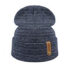 Chapéu do Inverno da marca Para Os Homens Skullies Gorros Mulheres Moda  Quente Cap Unisex Elasticidade Knit Beanie Unisex Verde . 7d5ce050e07