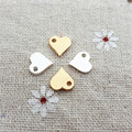 50pcs/lot 8*9mm alloy metal gold silver mini cute heart charm pendant accessories for bracelet DIY jewelry making
