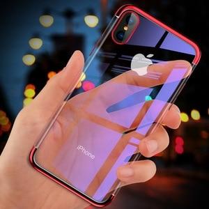 Image 4 - 전기 도금 케이스 iPhone 11 Pro 7 8 6 6s s Plus 12 iPhone X XR XS Max 쉘용 투명 소프트 실리콘 도금 커버
