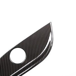 Image 2 - メルセデスベンツ glc gls クラス W212 W205 炭素繊維テクスチャ 2 個の車のインテリアシート調整パネルスイッチボタンカバー