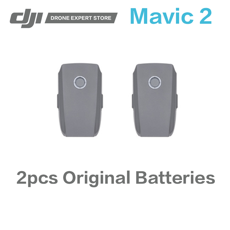 2pcs Original DJI Mavic 2 Intelligent Flight Batteries High-capacity LiPo cells Battery for Mavic 2 Pro / Mavic 2 Zoom original dji mavic 2 pro zoom intelligent flight battery 3850 mah russia free shipping