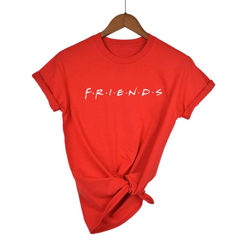plus size XS-XXL FRIENDS Letter Print Women tshirt Cotton Casual Funny t shirt For Lady Girl Top Tee Hipster Drop Ship