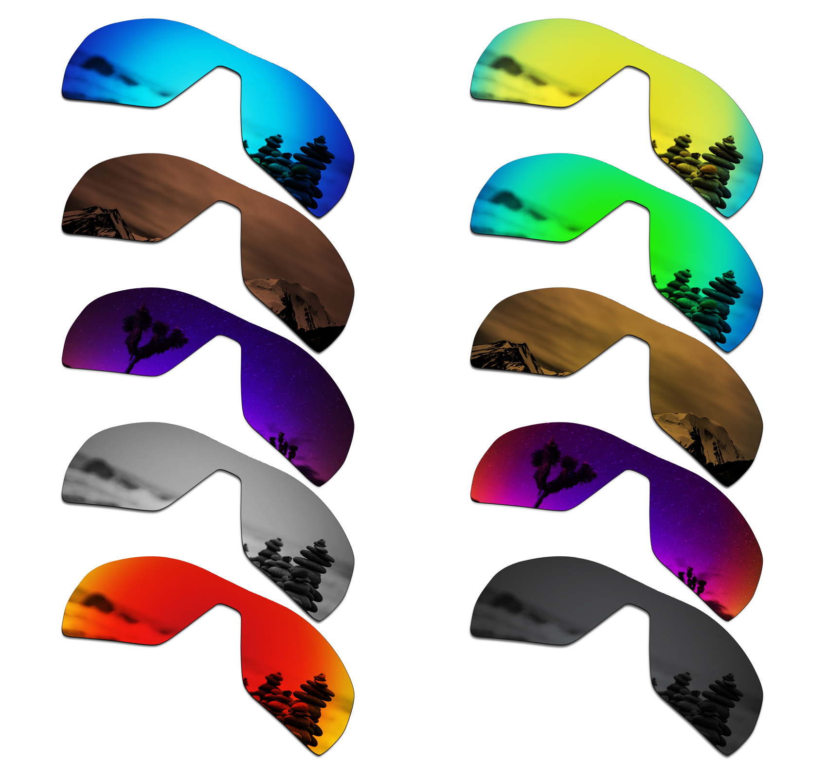 SmartVLT Polarized Replacement Lenses For Oakley Offshoot Sunglasses - Multiple Options