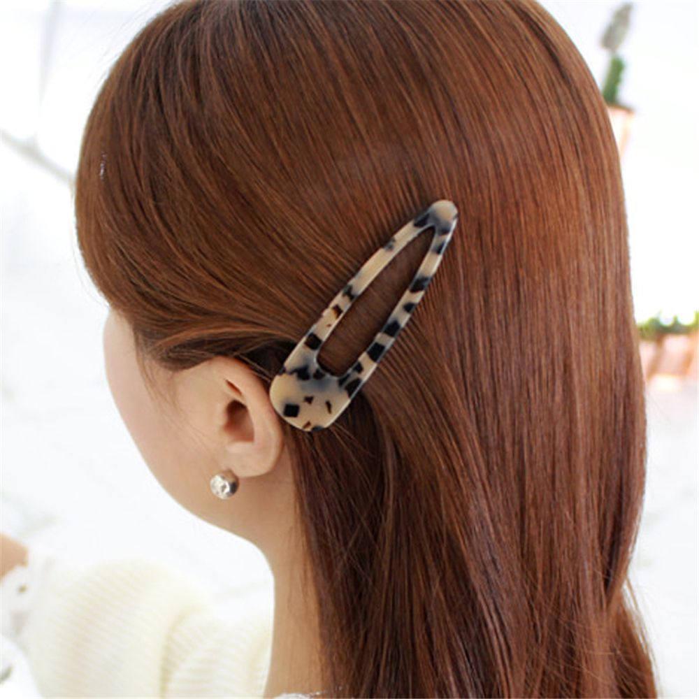Купить с кэшбэком New Acetate Hollow Waterdrop Hair Clips For Women Girls Sequins Geometric Hairpins Barrettes Hair Accessories