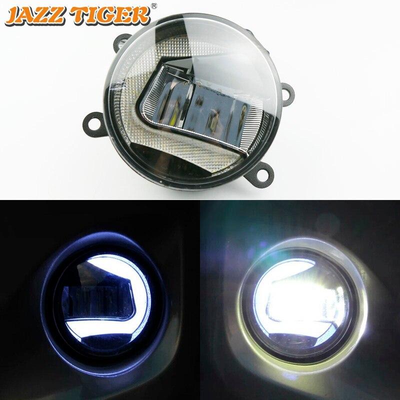 JAZZ TIGER 2 in 1 Functions LED Daytime Running Light Car LED Fog Lamp Projector Light
