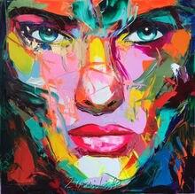 Palette knife painting portrait Palette knife Face Oil painting Impasto figure on canvas Hand painted