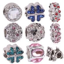 New Free Shipping 1Pcs Silver Color Bead Charm European Silver Bow Dog Cartoon Charm Pendant Bead Fit Pandora Bracelet Gift