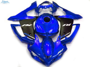 Customized Injection fairing kit fit for YAMAHA 2007 2008 YZFR1 YZF R1 07 08 blue black motorcycle fairings body kits YB31
