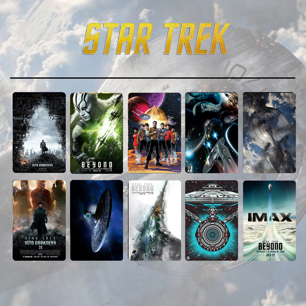10pcs/set Star Trek Beyond Captain Kirk Spock Card Stickers DIY Frosted Decal Phone Waterproof Stickers Souvenir Collection Gift