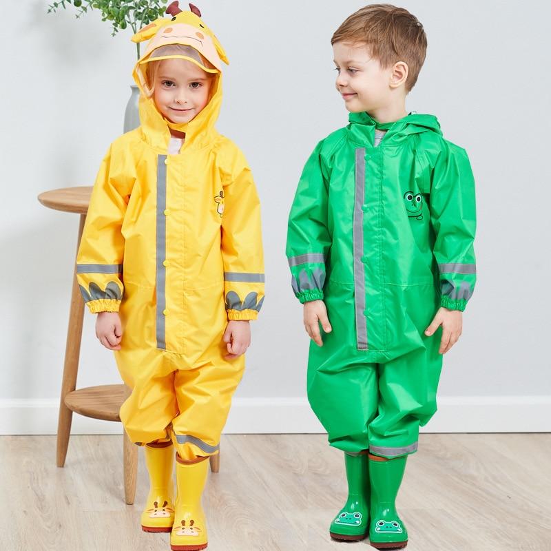 Kids Waterproof Rain Pants New 2020 Waterproof Overalls 3-8Yrs Baby Boys Girls Jumpsuit Fashion Children Raincoat Clj016 2
