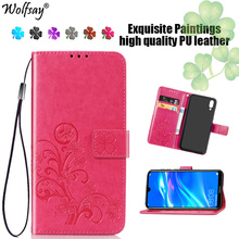 Wolfsay Phone Bag Huawei Y7 Pro 2019 Case Flip Leather Wallet For Cover Luxury