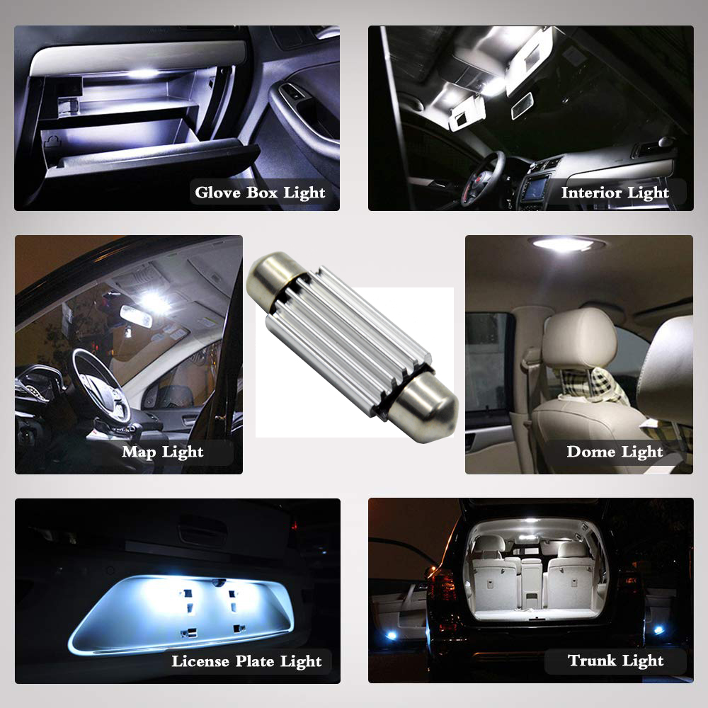 12 24V AC DC C10W LED Canbus Festoon 39mm 41mm 4014 for car Bulb Interior Reading Light License Plate Lamp Warm white free error in Signal Lamp from Automobiles Motorcycles
